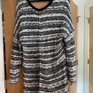 Free People Songbird Marled Striped Sweater
